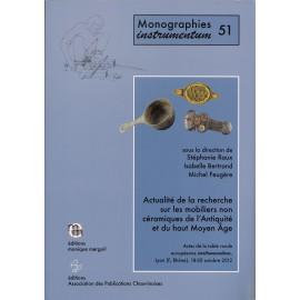 Actualité de la recherche sur les mobiliers non céramiques de l'Antiquité et du haut Moyen-Age.
